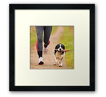 Jogging Framed Print