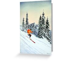 Skiing - The Clear Leader Greeting Card