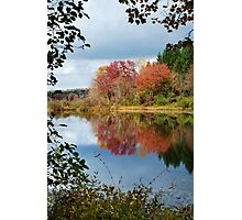 Colorful Fall Reflection Landscape Photographic Print