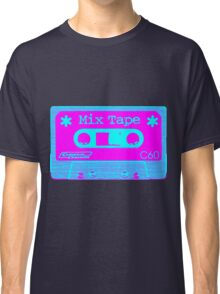 Psychedelic Mix Tape - Cyan and Magenta Classic T-Shirt