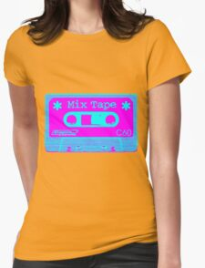 Psychedelic Mix Tape - Cyan and Magenta Womens T-Shirt