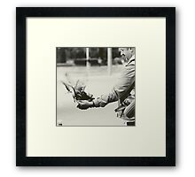 Caring hand Framed Print