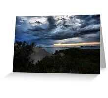 Storm Clouds In The Bay Greeting Card