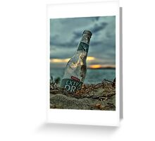Remenents of a Nice Day Greeting Card