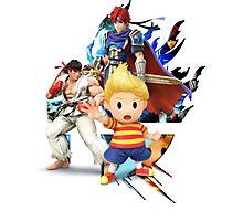 Lucas, Roy, Ryu, Super Smash Bros. 3DS/Wii U Photographic Print