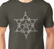 Magen David with five-pointed star inside it Unisex T-Shirt