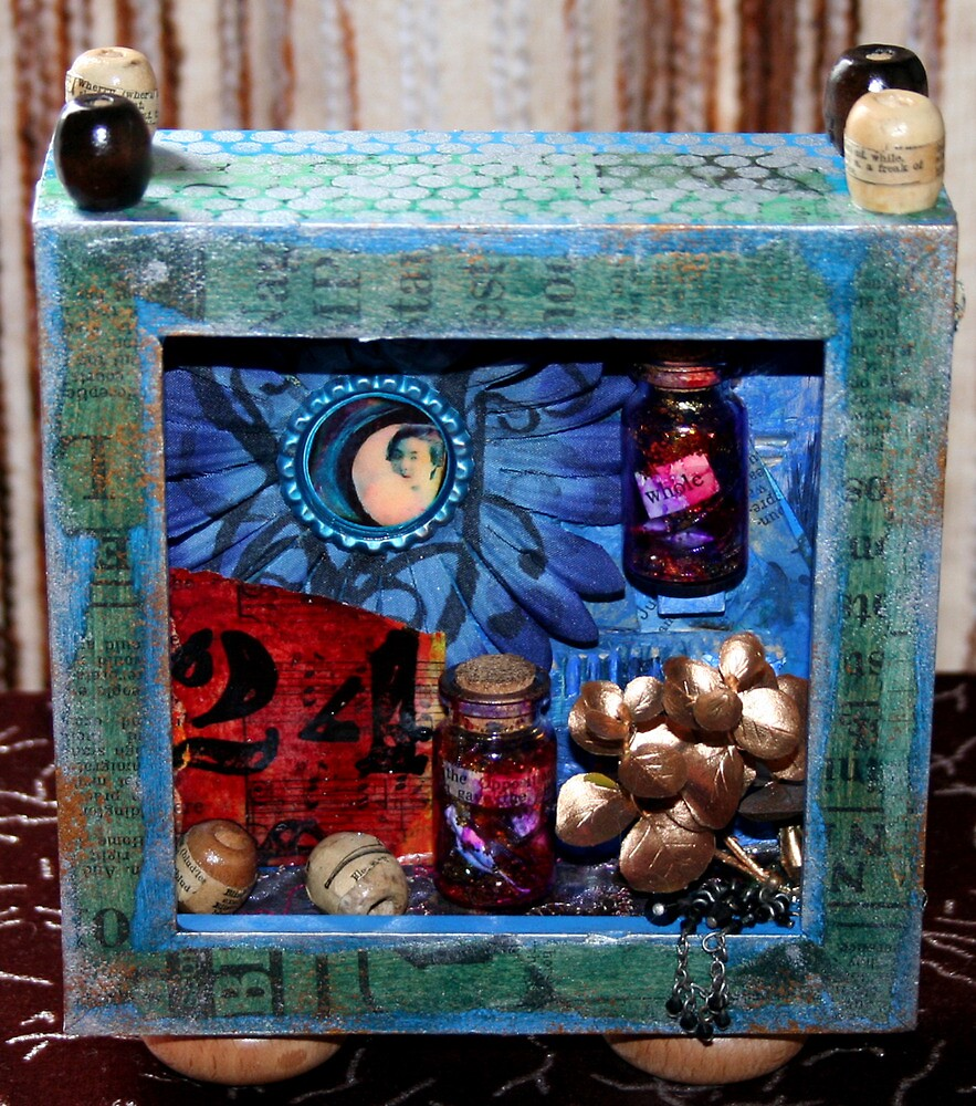 Message in a bottle in a box... by Rosie Rowe