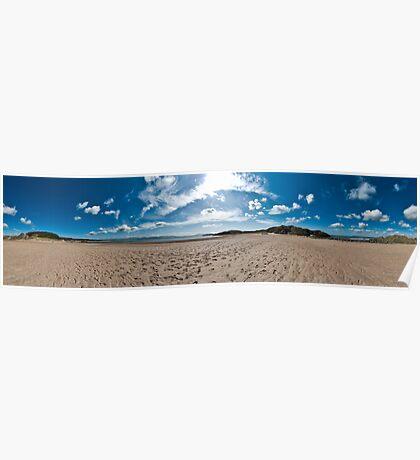 Newborough Beach 360 Panorama Poster