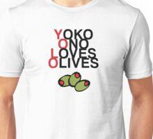 YOLO (Yoko Ono Loves Olives) Unisex T-Shirt