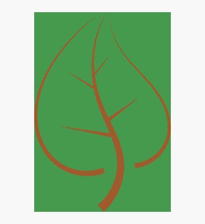 Minimal Brown Leaf Photographic Print