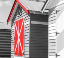 Bathing houses at Brighton Beach, Australia Sticker