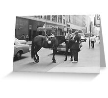Officer at work Manhattan New York City 1978 Greeting Card