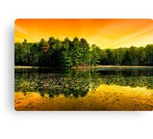 Sunrise Reflection Landscape Canvas Print