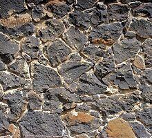 Stone Wall at Westgarthtown by Rodderrick Sota