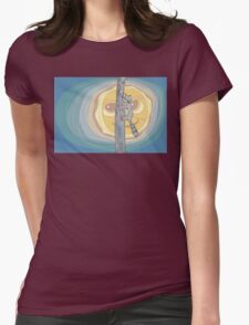 Raccoon Moon Womens Fitted T-Shirt