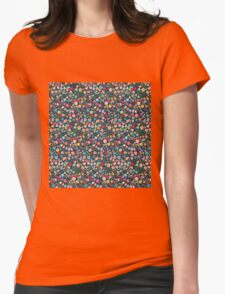 Vintage Floral Pattern/Background Womens Fitted T-Shirt