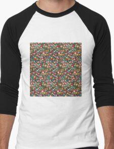 Vintage Floral Pattern/Background Men's Baseball ¾ T-Shirt