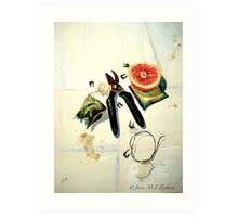 Still Life with Picture Wire Art Print