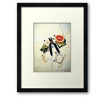 Still Life with Picture Wire Framed Print