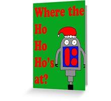 Bobby at Christmas Greeting Card