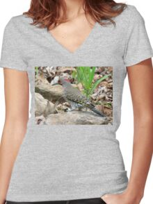 Northern Flicker  Women's Fitted V-Neck T-Shirt