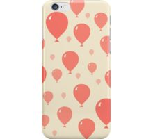 Red Balloons pattern iPhone Case/Skin