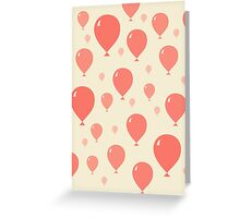 Red Balloons pattern Greeting Card
