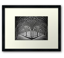 Cloisters at Canterbury Cathedral Framed Print