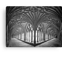 Cloisters at Canterbury Cathedral Canvas Print