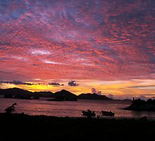 Seychelles sunset by FlushinMelow