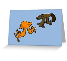 Octopi VS Platypi Greeting Card