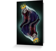 The King of Spades Greeting Card