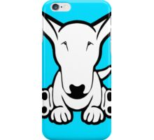 English Bull Terrier Strange Sit  iPhone Case/Skin