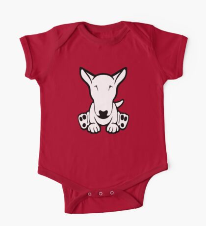 English Bull Terrier Strange Sit  One Piece - Short Sleeve