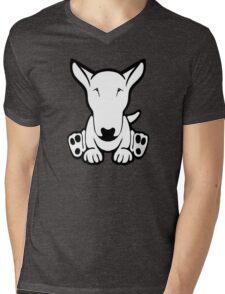 English Bull Terrier Strange Sit  Mens V-Neck T-Shirt