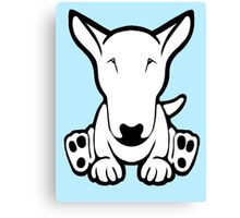 English Bull Terrier Strange Sit  Canvas Print
