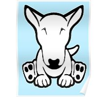 English Bull Terrier Strange Sit  Poster