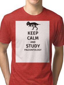 Keep calm and study paleontology Tri-blend T-Shirt