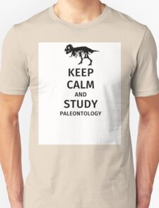 Keep calm and study paleontology Unisex T-Shirt