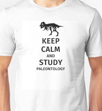 Keep calm and study paleontology Unisex T-Shirt