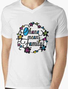 Ohana means Family Mens V-Neck T-Shirt