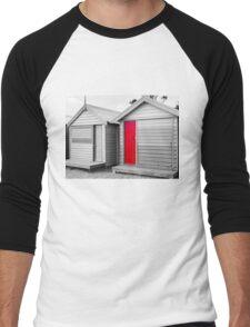 Bathing houses at Brighton Beach, Australia Men's Baseball ¾ T-Shirt