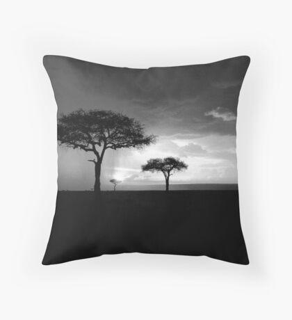 Thunderstorm at Dusk, Masai Mara Throw Pillow