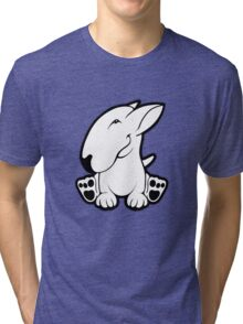 Side Sit English Bull Terrier  Tri-blend T-Shirt