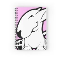 Side Sit English Bull Terrier  Spiral Notebook