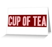 Pageant Material: Cup Of Tea [Song Title] Greeting Card