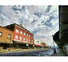 Parting Clouds Over Franklin, NC Photographic Print