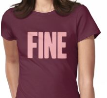 Pageant Material: Fine [Song Title] Womens Fitted T-Shirt