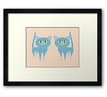A PAIR OF PURRING CATS Framed Print