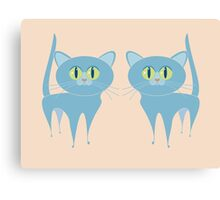 A PAIR OF PURRING CATS Canvas Print